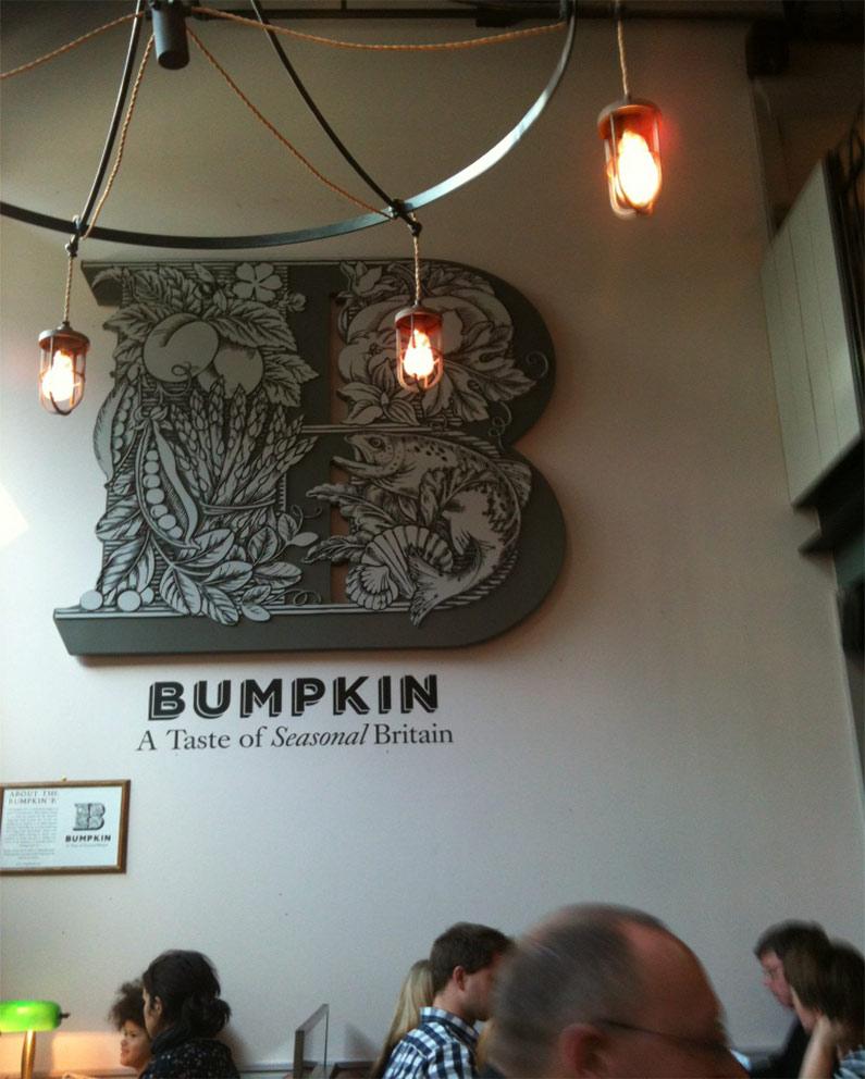 Bumpkin 3D restaurant signage