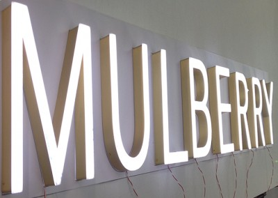 Illuminated signs and letters for Small plastic letters for signs