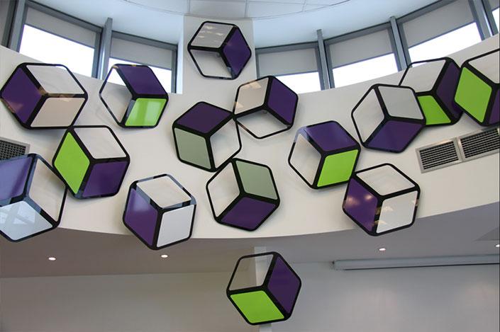 Acrylic cubes