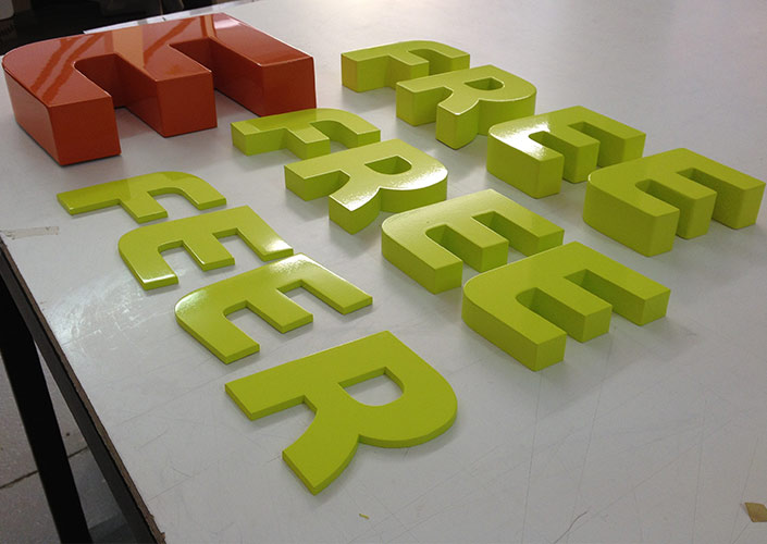 High gloss HDU letters