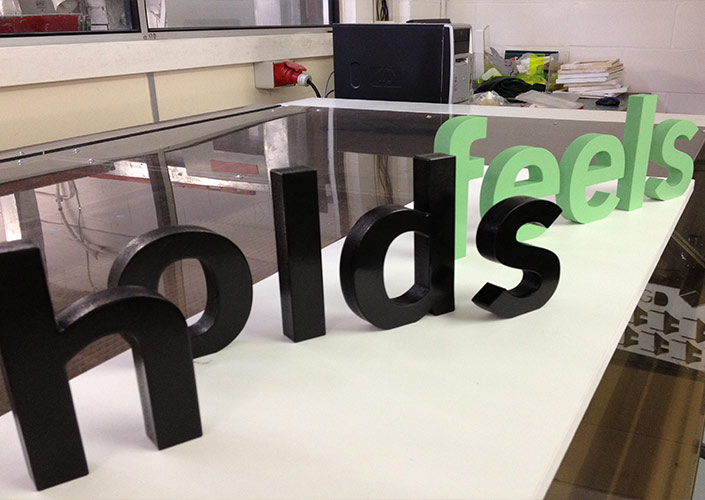 3d high gloss letters