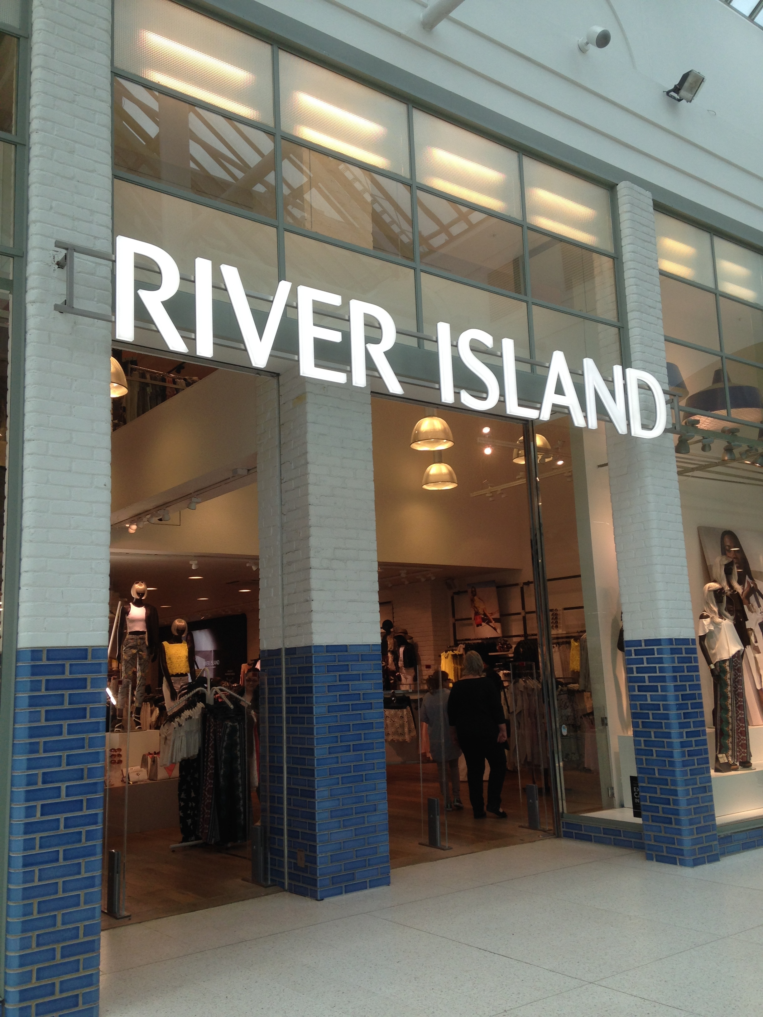 River Island Illuminated LED facia sign