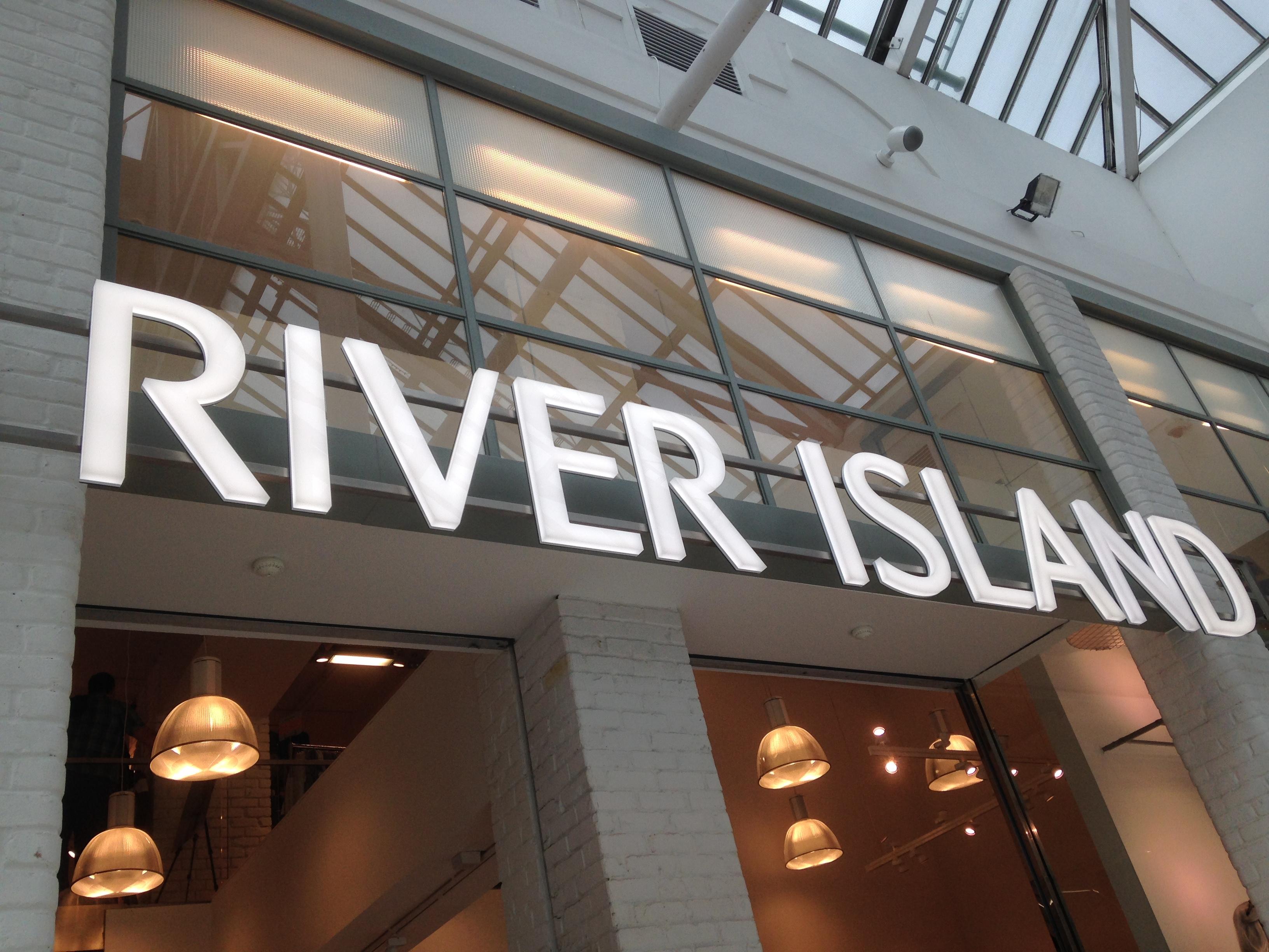 River Island Illuminated LED facia sign