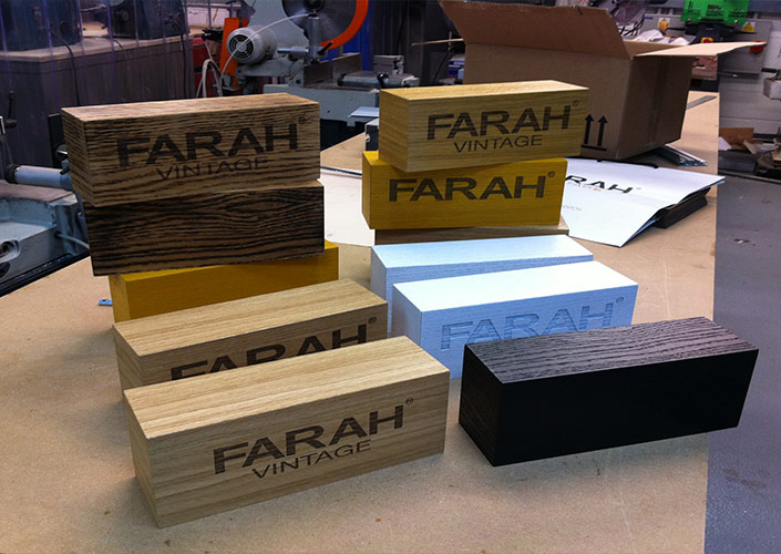 Farah Wooden Branding Blocks Laser Engraved