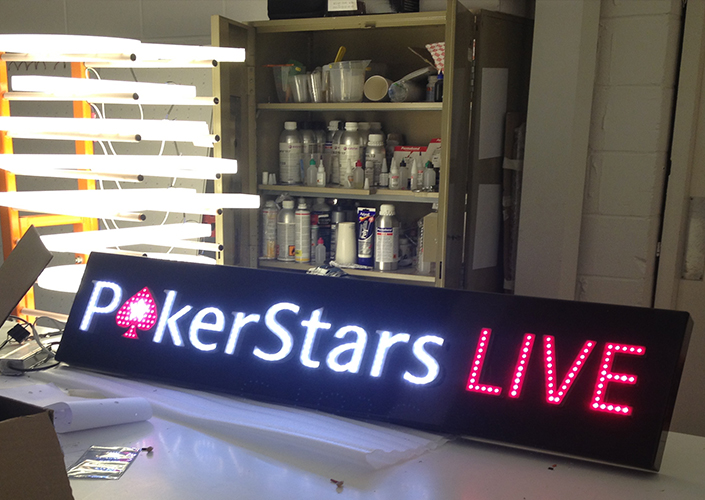 Poker stars live led display