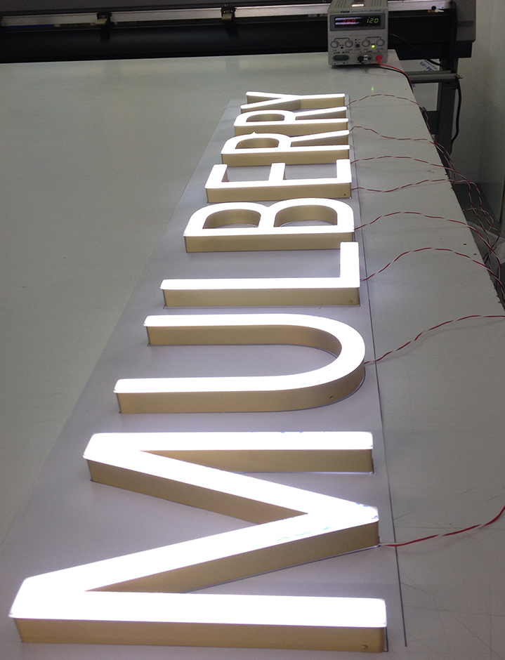 Mulberry Illuminated LED Letters