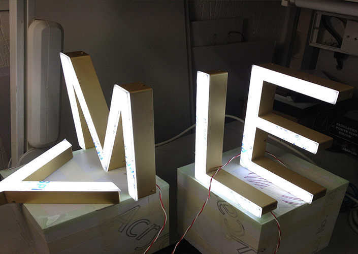 LED letters testing