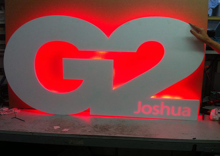 Back-lit logo