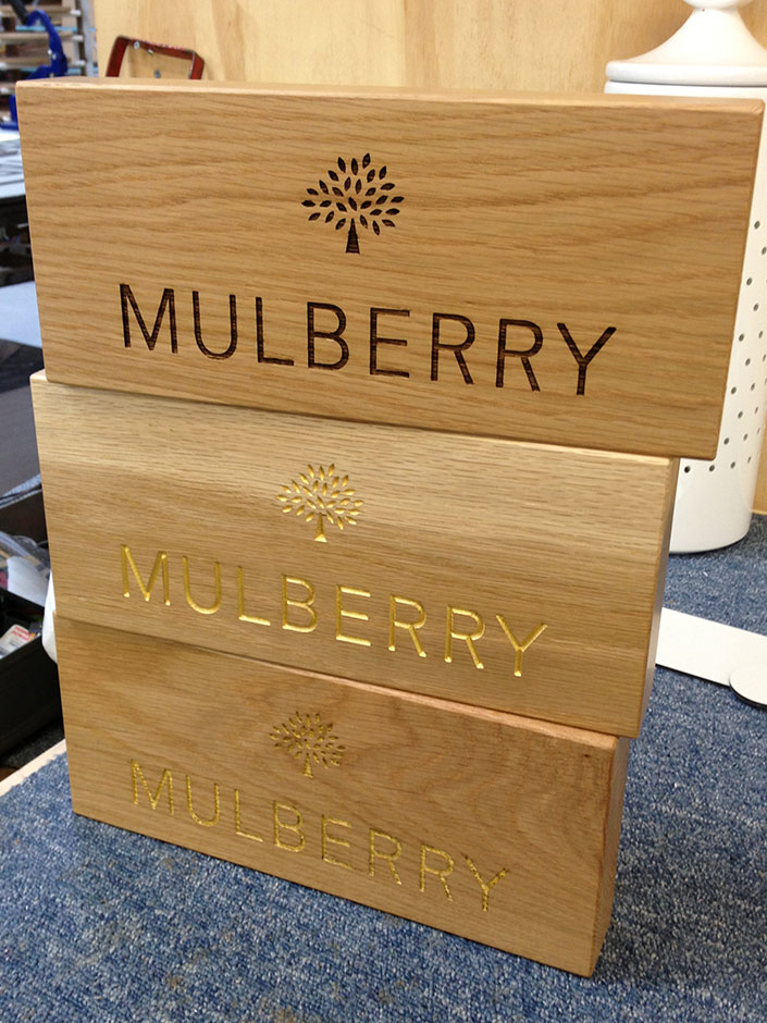 Mulberry branding blocks
