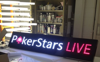 Poker Stars Illuminated Signs
