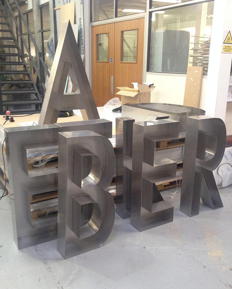ted baker built up letters