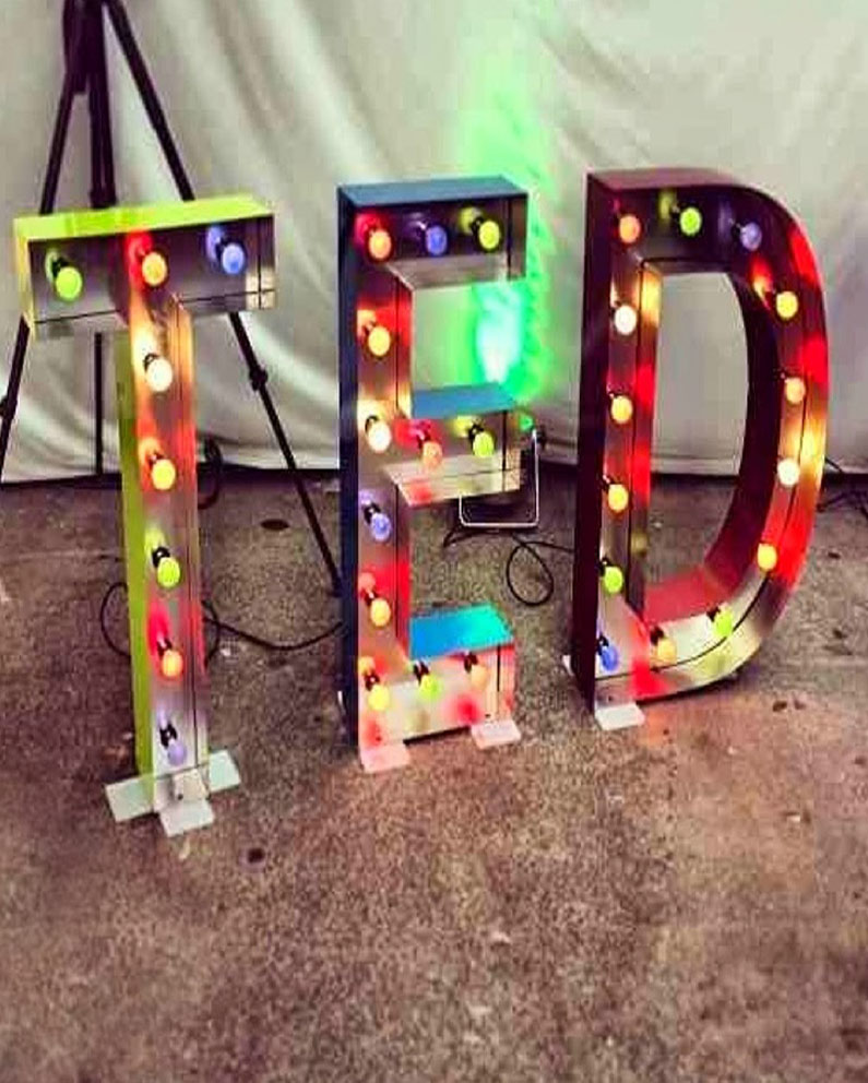 ted baker illuminated letters