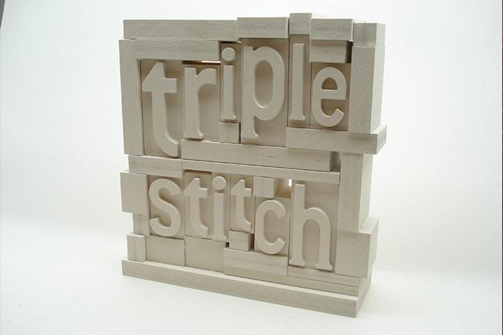 Triple Stitch 3D HDU branding Block