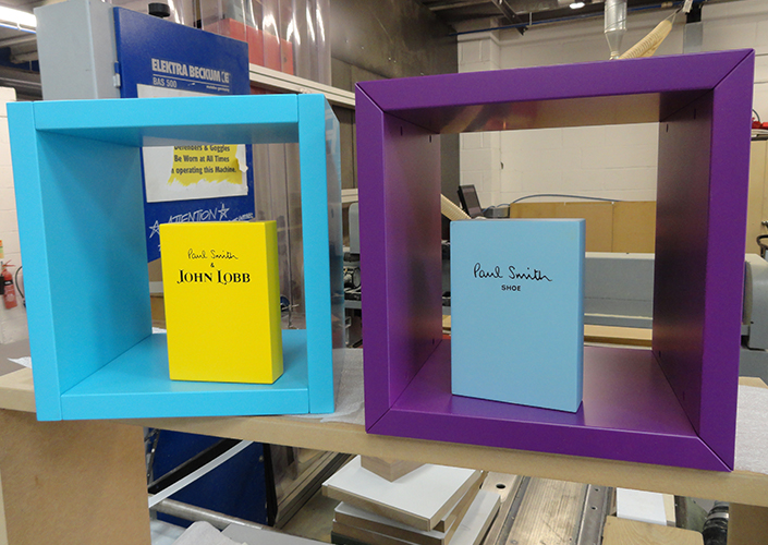 Paul Smith Branding Blocks and Footwear Displays
