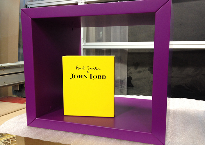 Paul Smith John Lobb Branding Block and Footwear Display