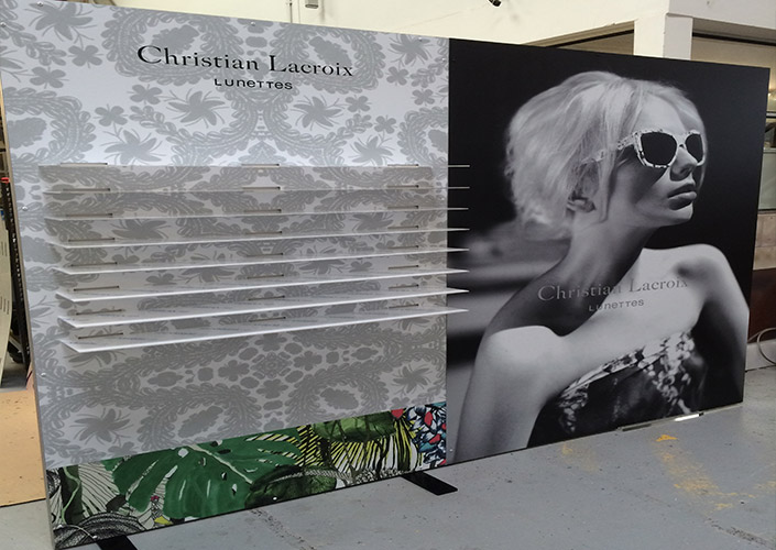 Christian Lacroix Freestanding Eyewear Display