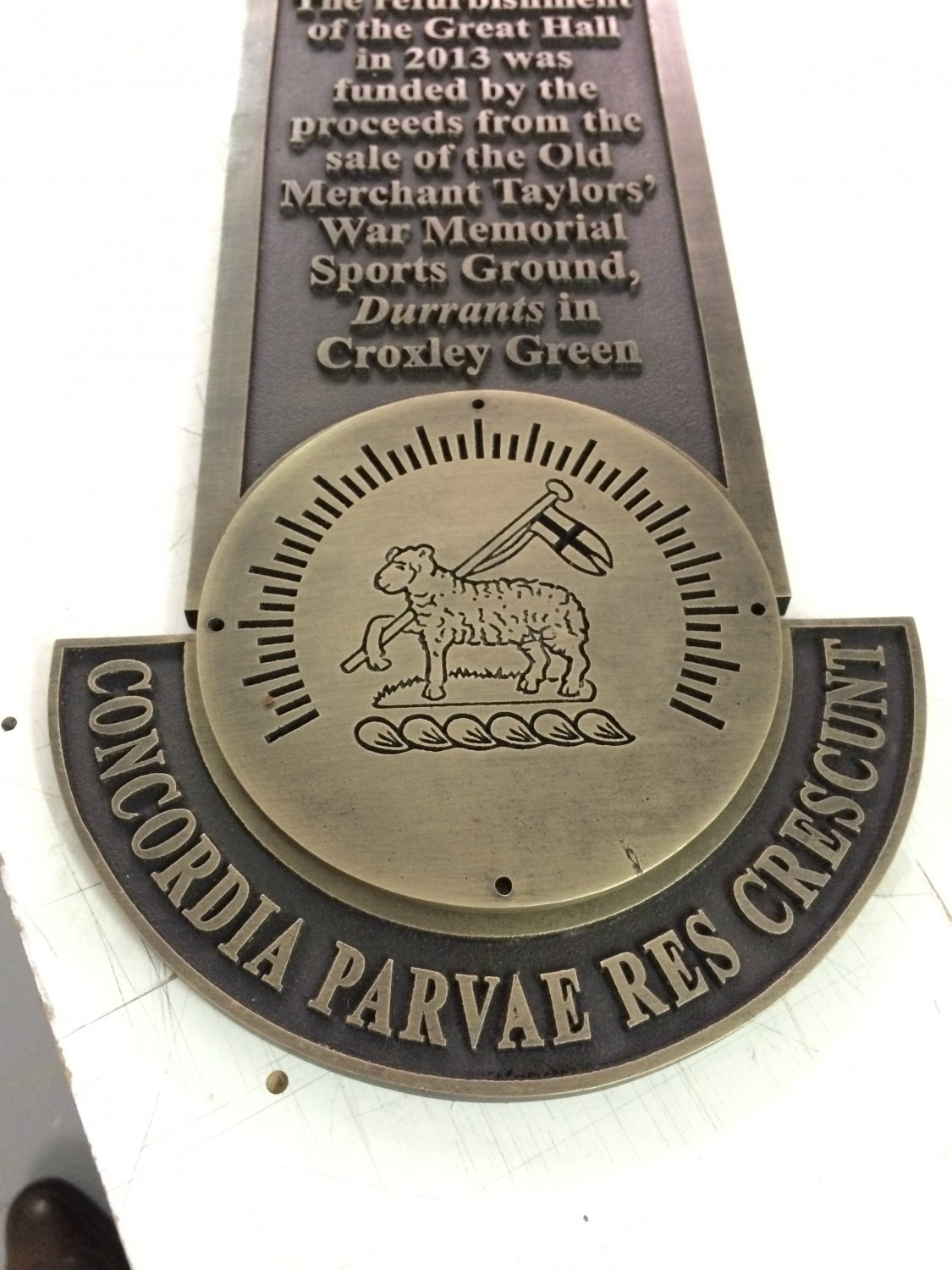 Cast Metal Commemorative Plaque