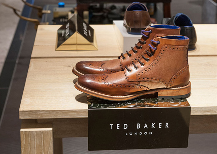 Ted Baker Footwear Risers and Branding Blocks