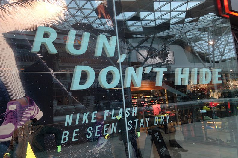 Nike 3D Window Letters