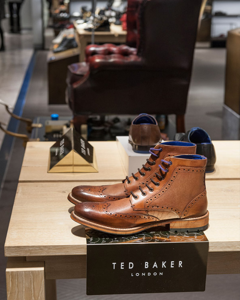 Ted Baker Branding Blocks and Shoe Risers