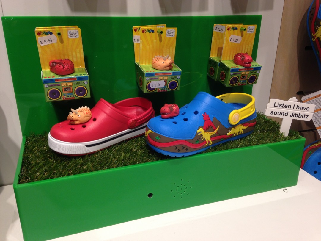 Crocs Motion Sensor & Sound Module Shoe Display