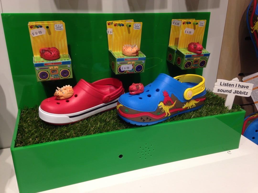 Crocs Motion Sensor & Sound Module Shoe Display