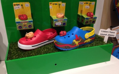 Crocs Footwear Displays With Motion Sensor Sounds