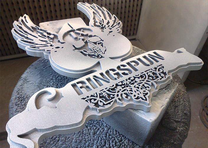 Ringspun 3D branding