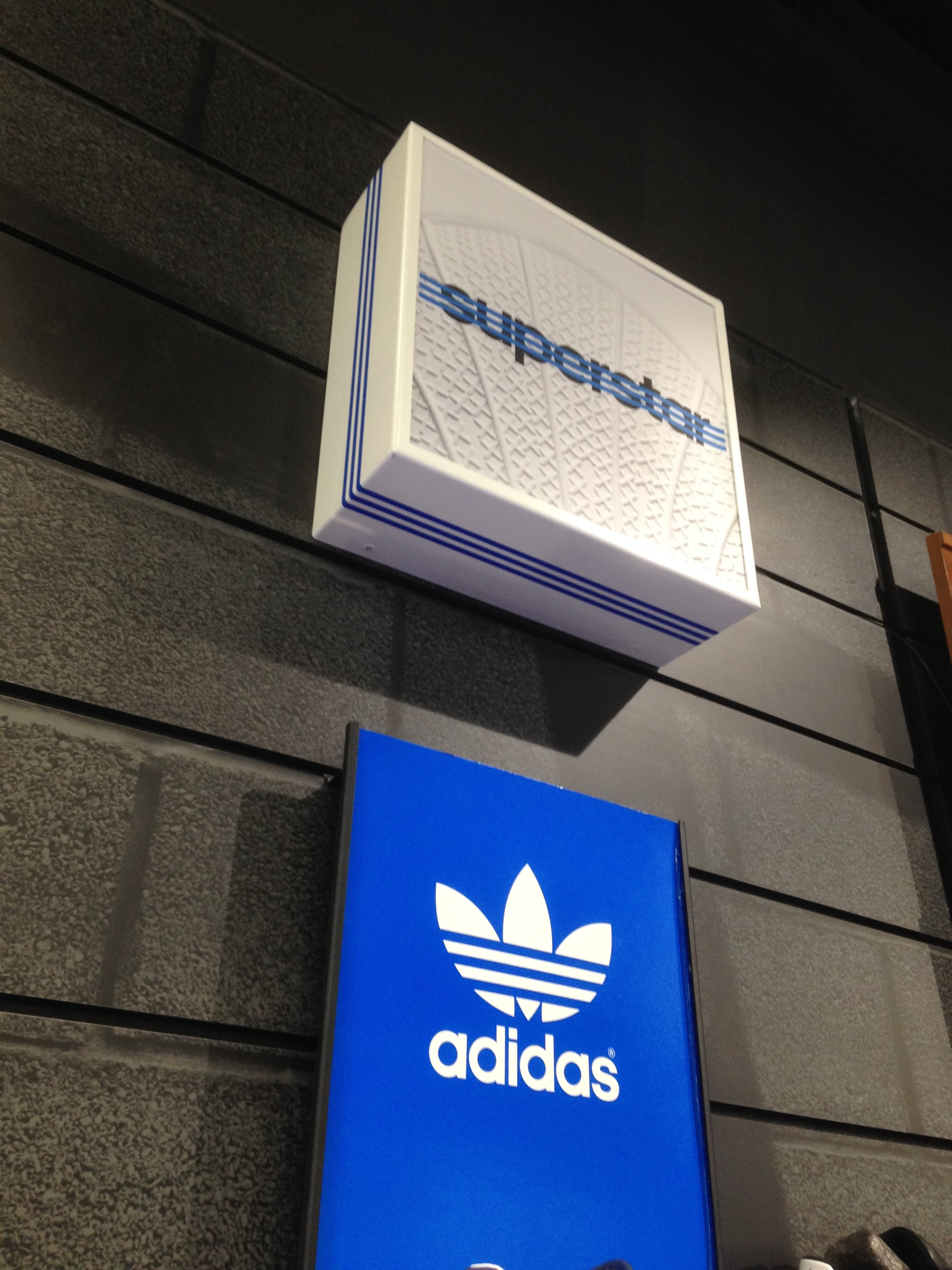 Adidas superstar footwear display