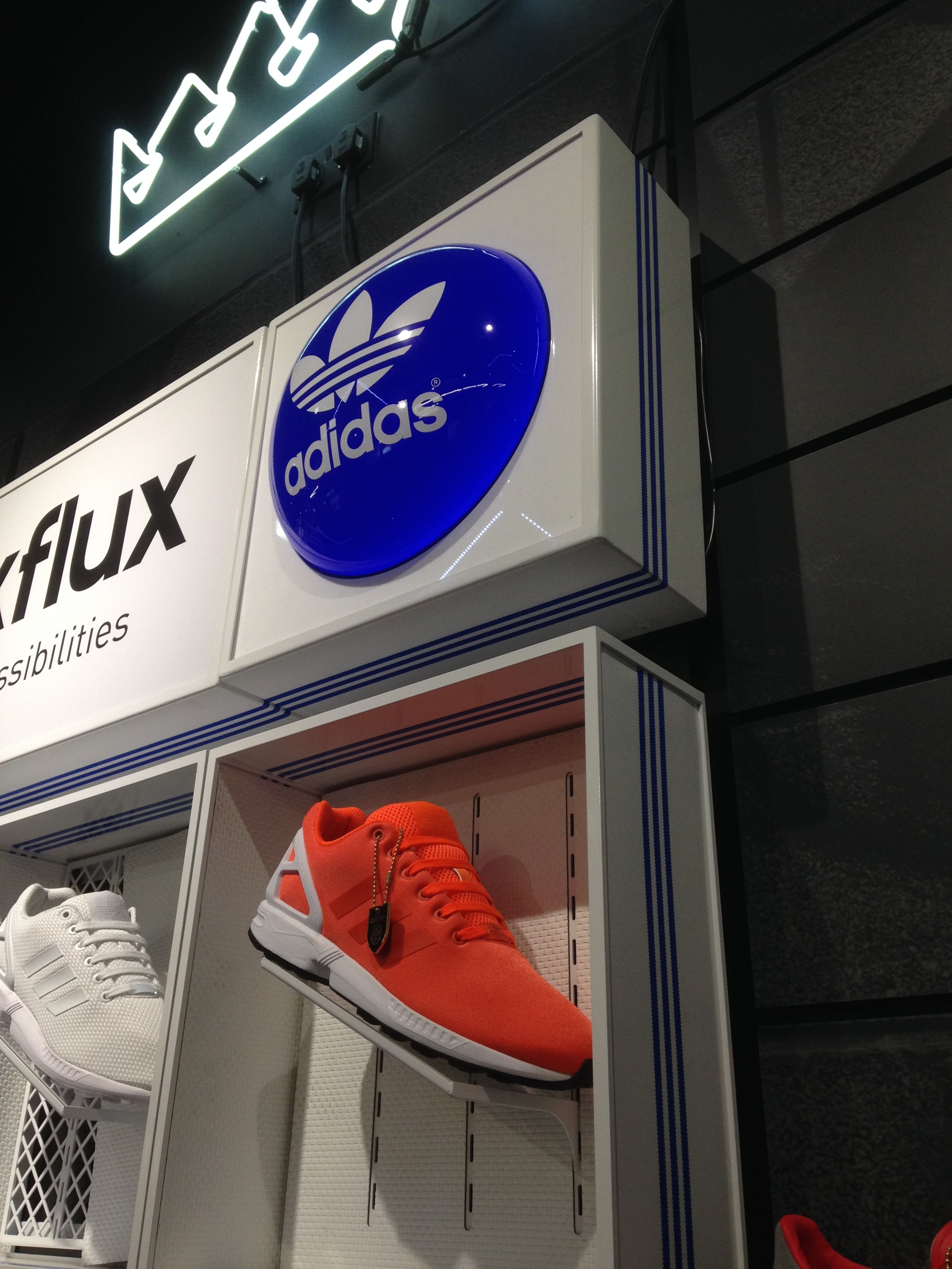 Adidas retail sign vacformed