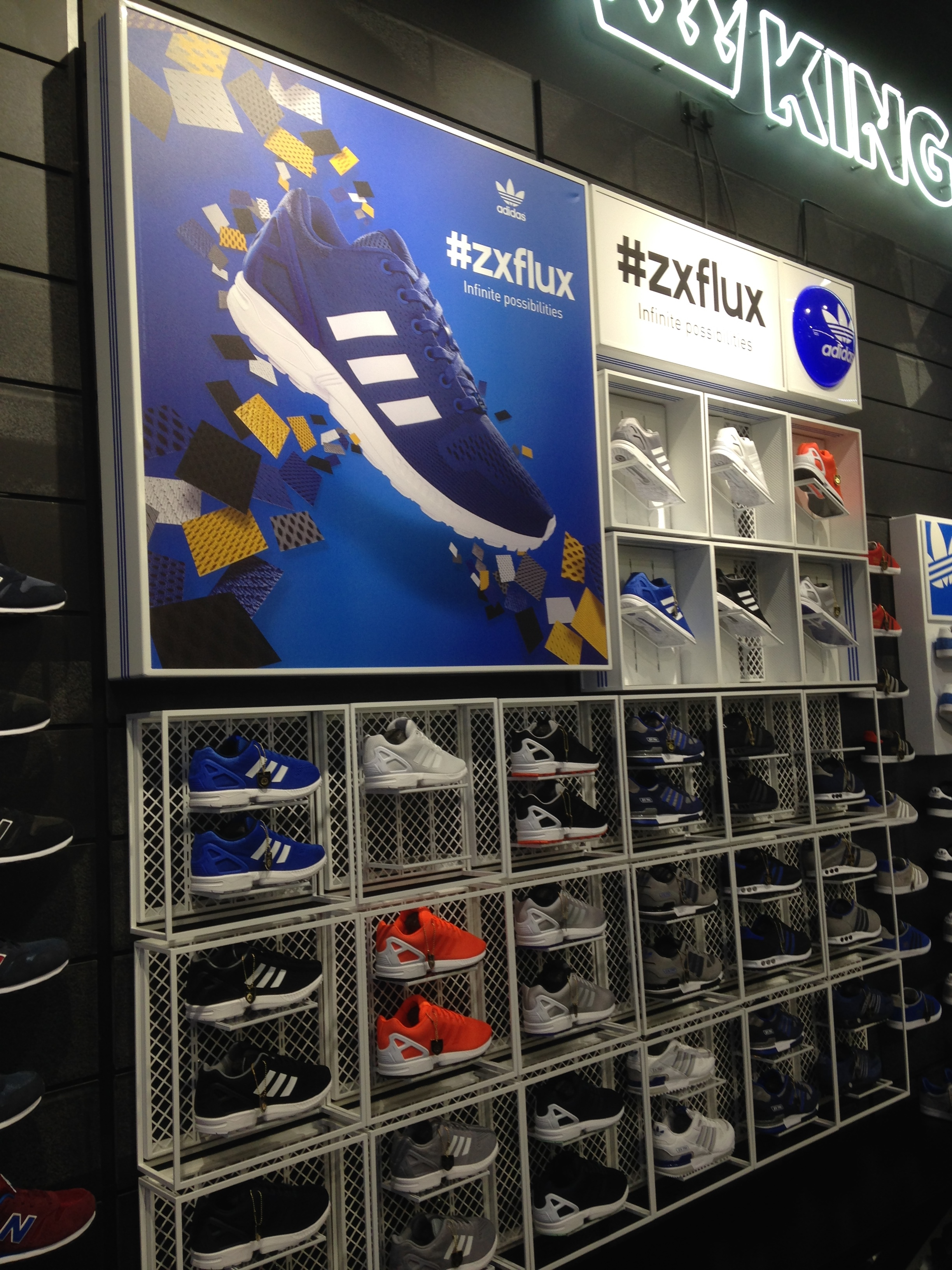 Adidas footwear display for JD Sports