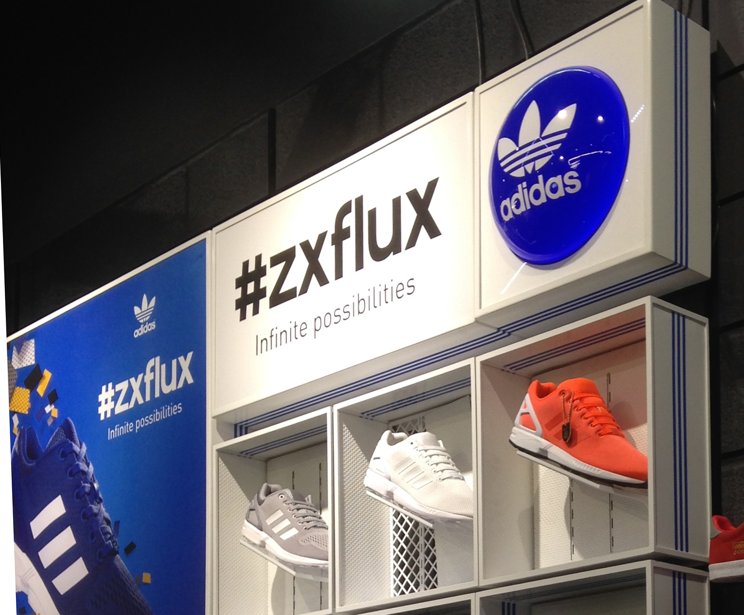 Adidas Vacformed Footwear Display and signage