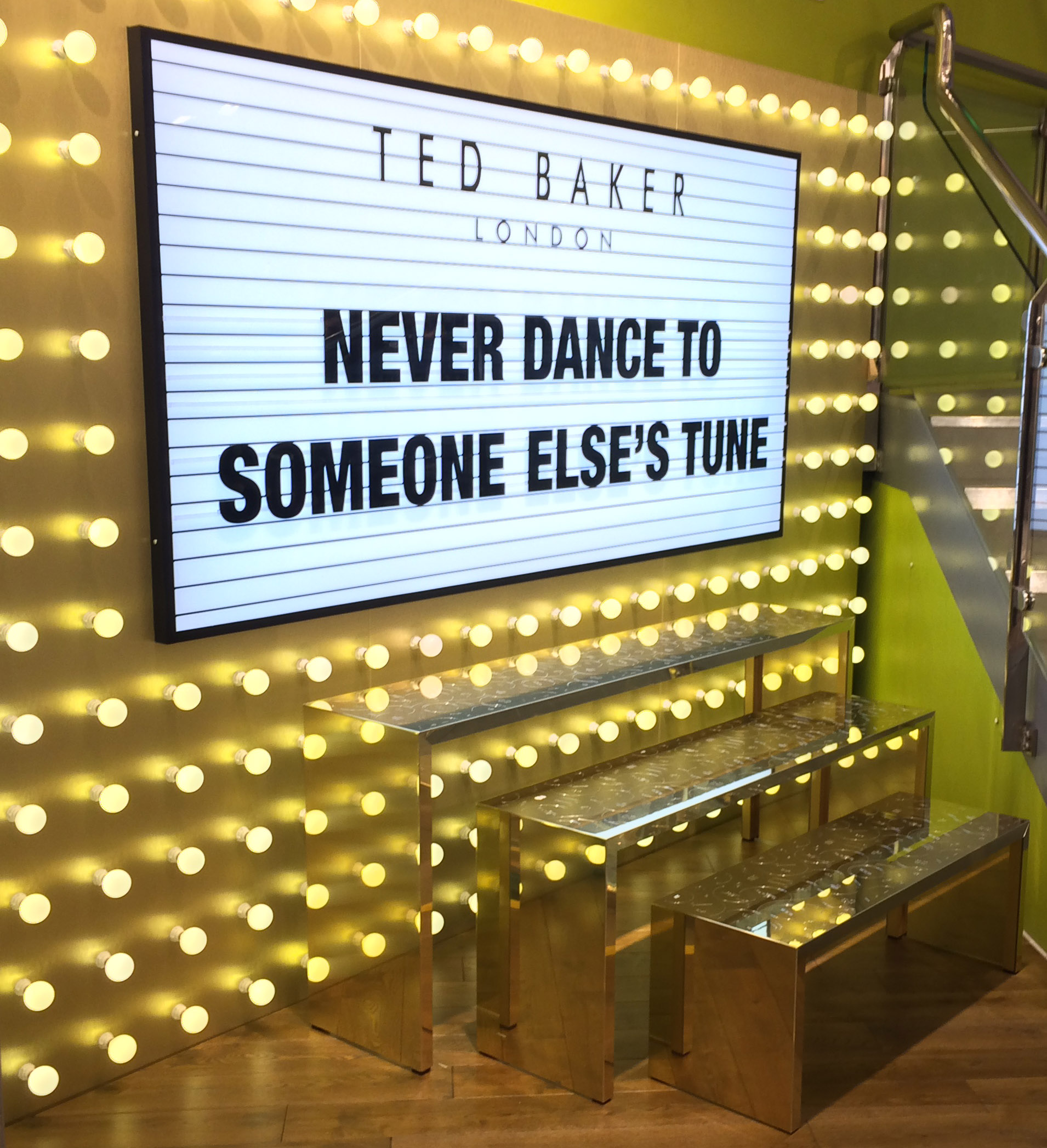 Ted Baker Footwear Display for Shuh