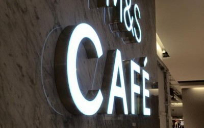 M&S Cafe Illuminated Interior Signs
