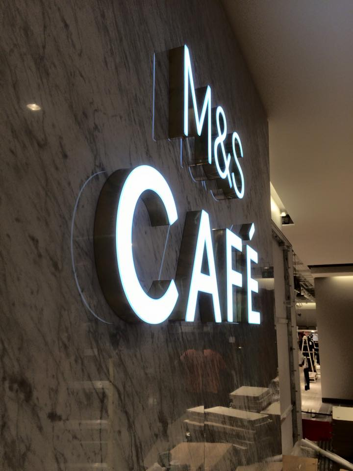 M&S Illuminated sign