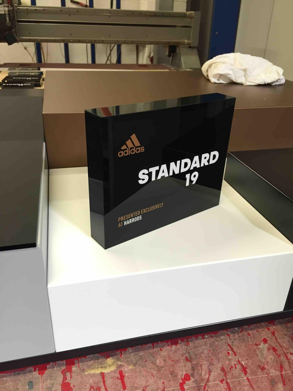Adidas Branding Block and Plinth
