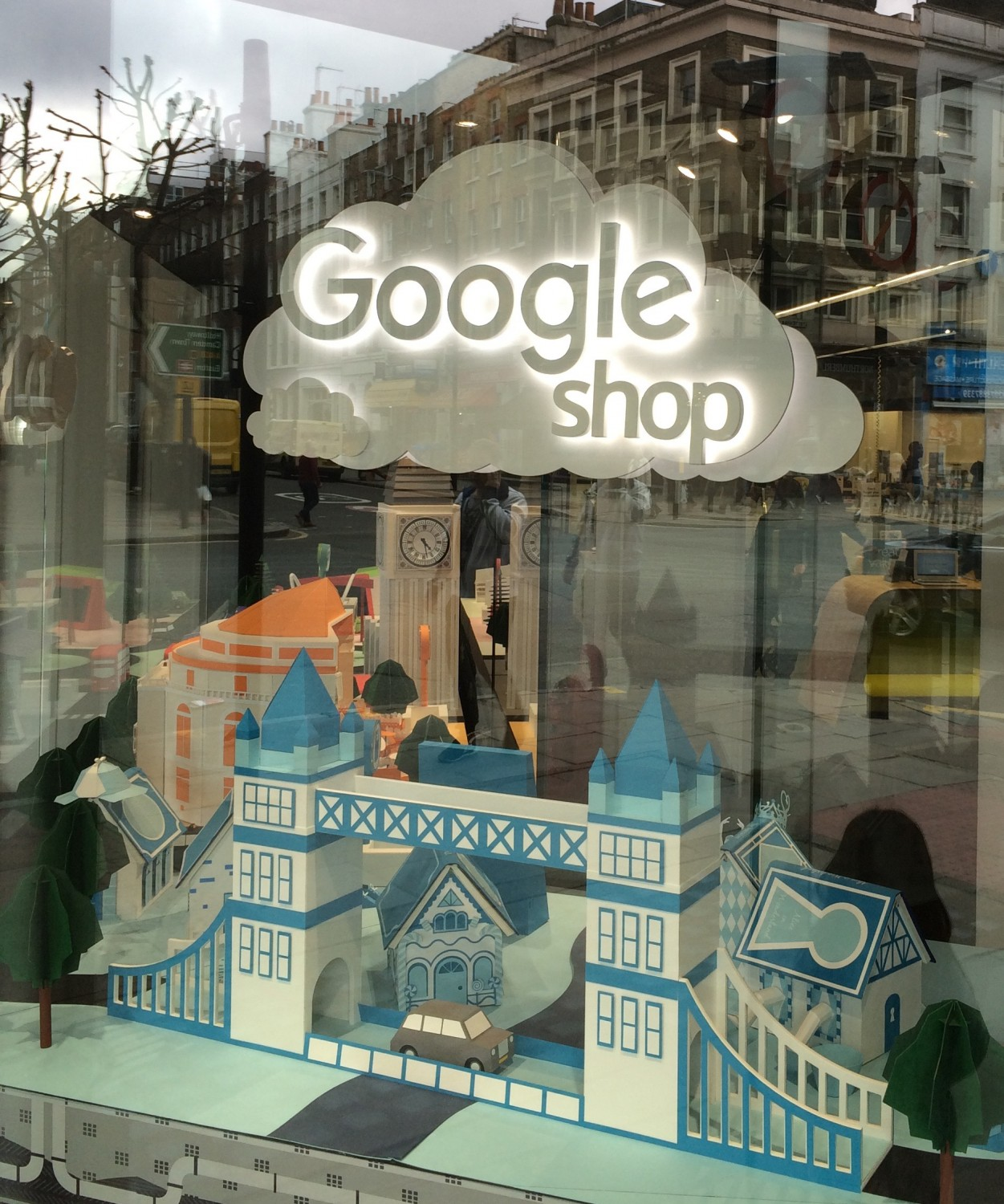 Google Illuminated Window Display