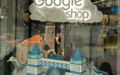 Google Illuminated Window Displays.