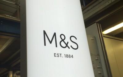 M & S Illuminated Totem Signage.
