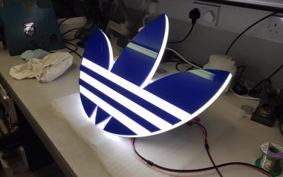 Adidas Illuminated LED sign.