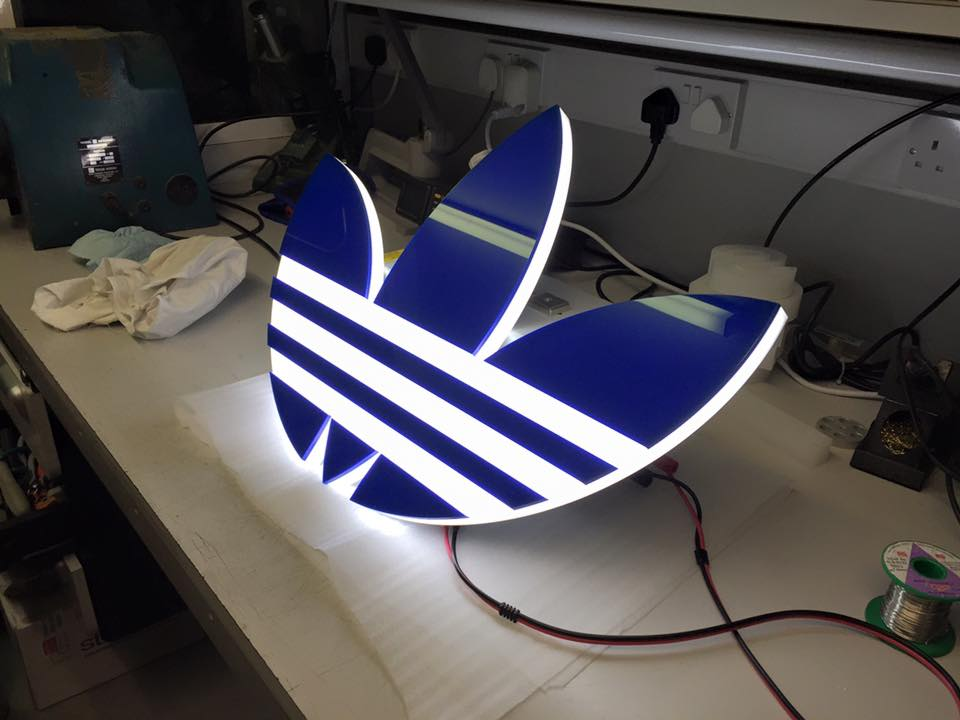 Illuminated LED Adidas logo