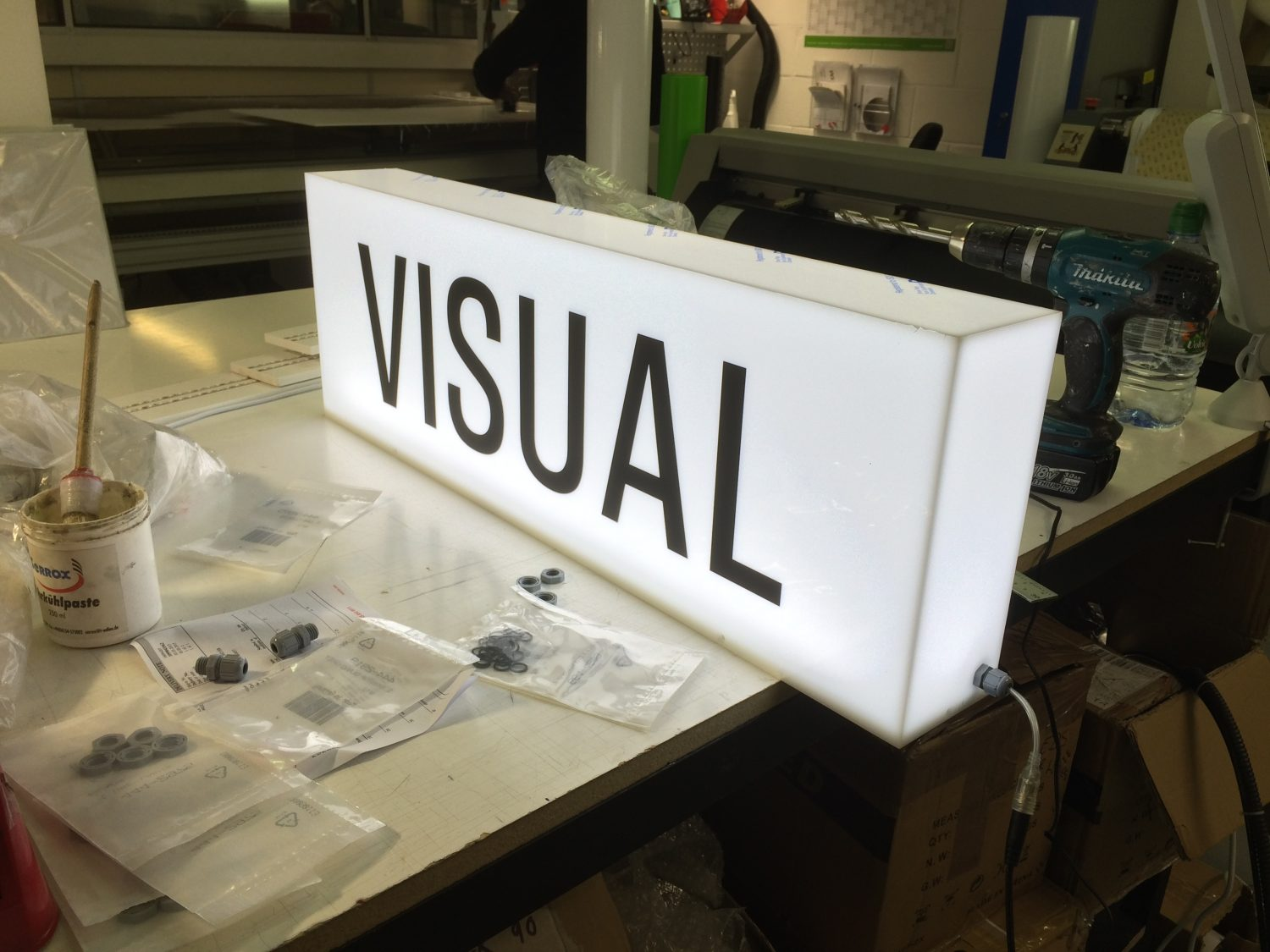LED Light box signage