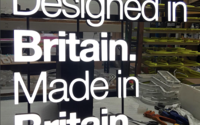 Designed In Britain. Made in Britain LED sign