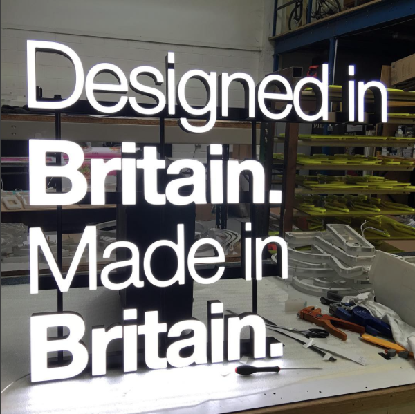 Made In Britain Illuminated LED Sign