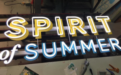M&S Spirit of Summer LED illuminated signs