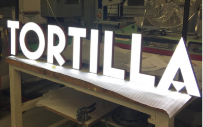Tortilla Illuminated LED Signage
