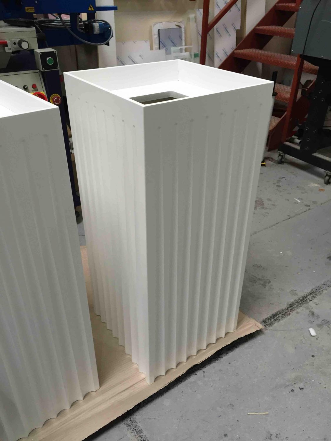 Fluted MDF Display Plinths