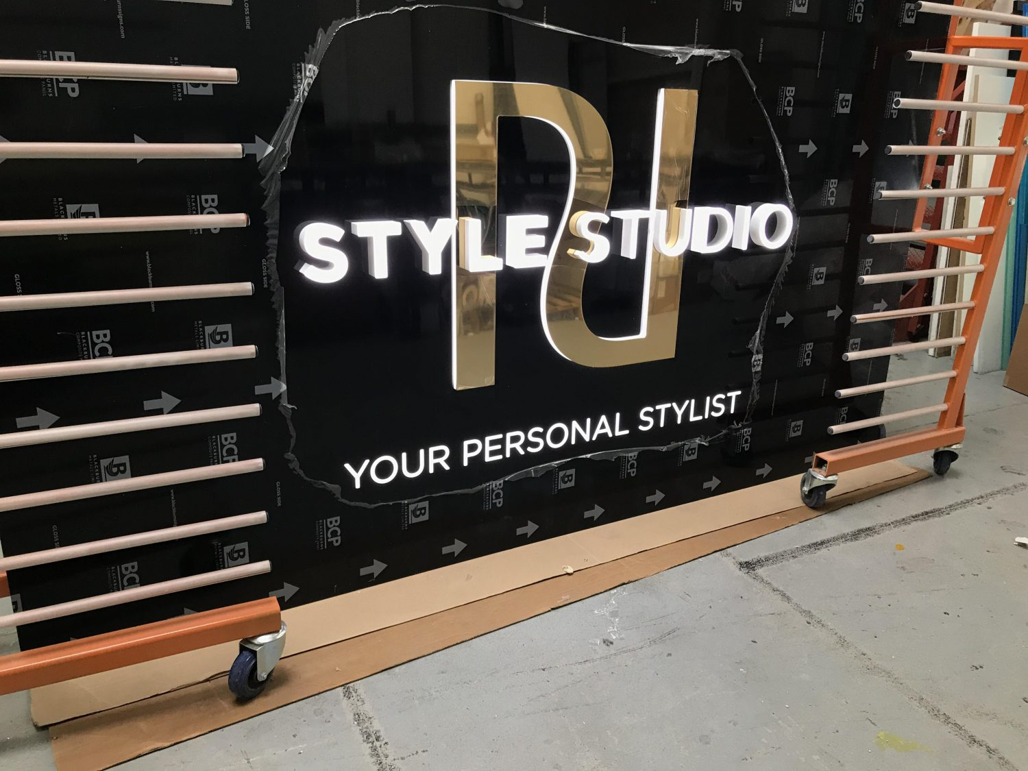 River Island retail signage