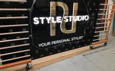 River Island Style Studio Signage