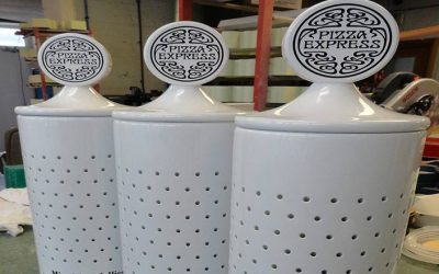 Pizza Express Lollipop Dispensers
